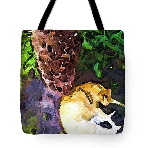The Sleeping Cat And The Dead Tree Fern Tote Bag