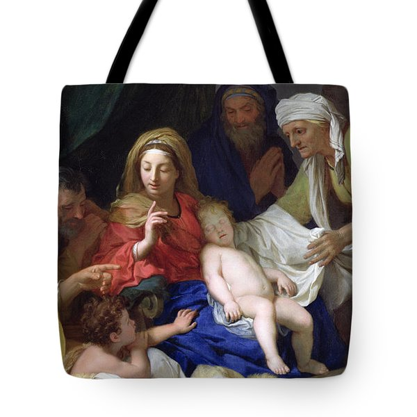 The Sleeping Christ Tote Bag by Charles Le Brun