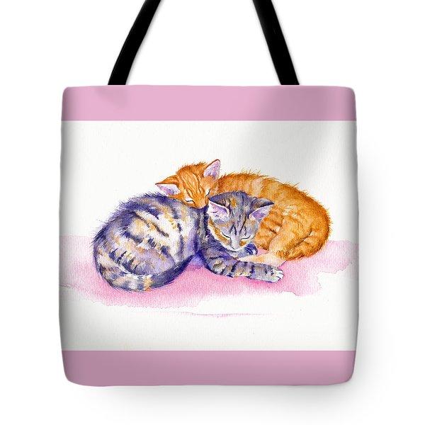 The Sleepy Kittens Tote Bag