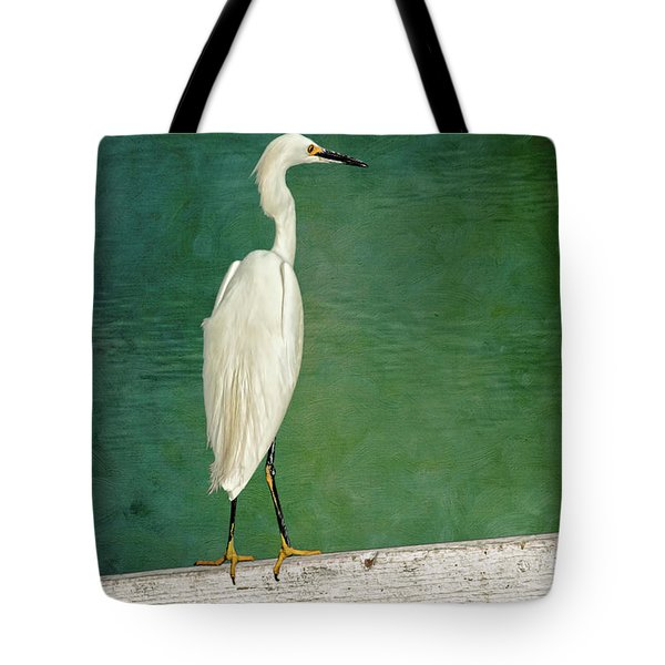 The Small White Heron - Snowy Egret Tote Bag