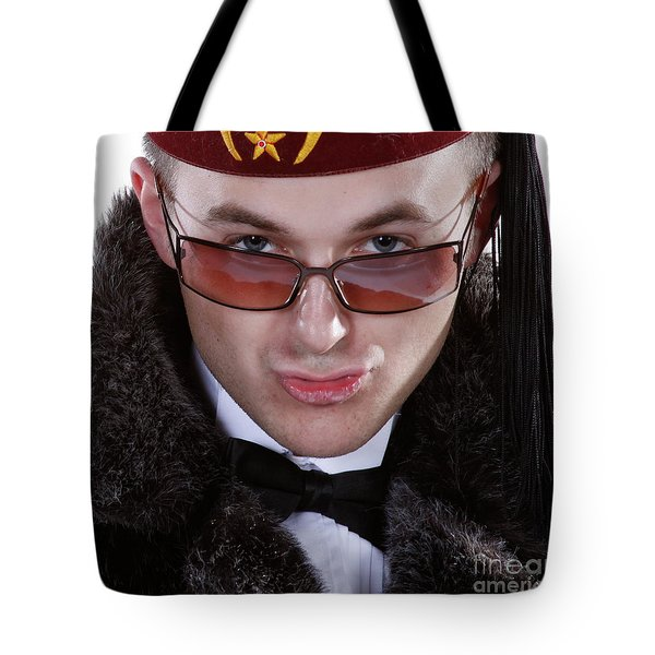 Tote Bag featuring the photograph The Smarmy Russian by Xn Tyler
