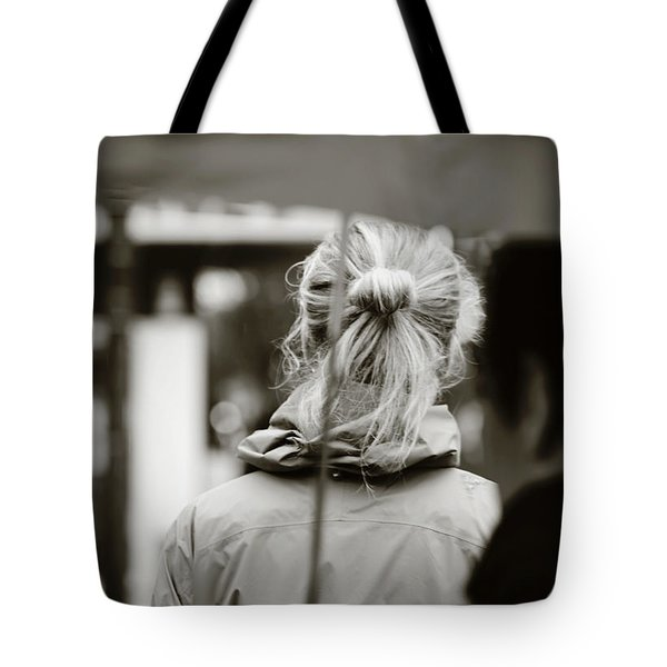 Tote Bag featuring the photograph The Smell Of Your Hair by Empty Wall