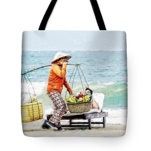 The Smiling Vendor Tote Bag