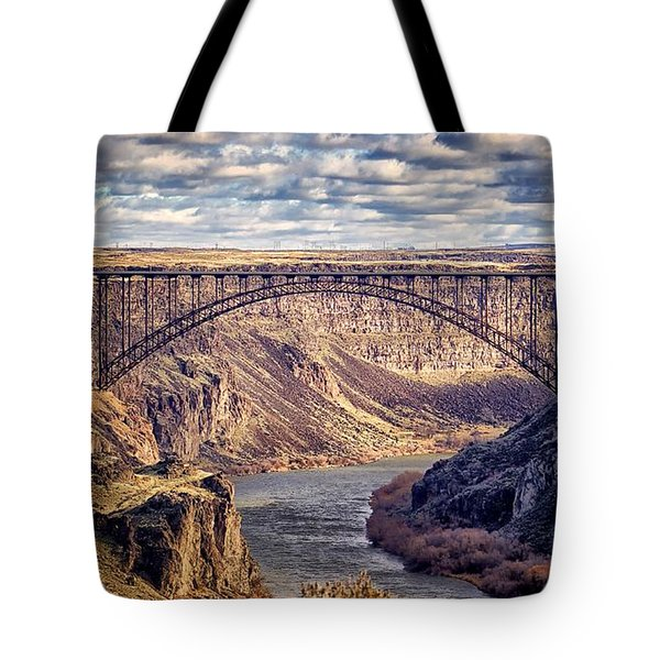 Tote Bag featuring the photograph The Snake River At Twin Falls Idaho by Michael Rogers