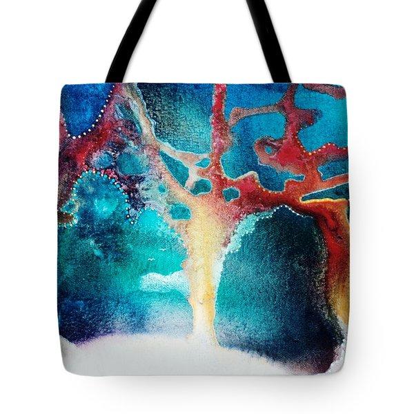 The Snow Birds Tote Bag by Lee Pantas