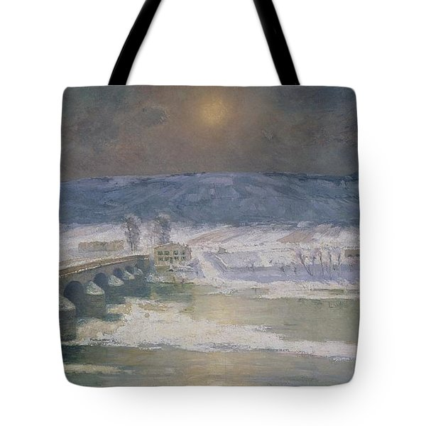 The Snow In The Auvergne Tote Bag by Albert Charles Lebourg