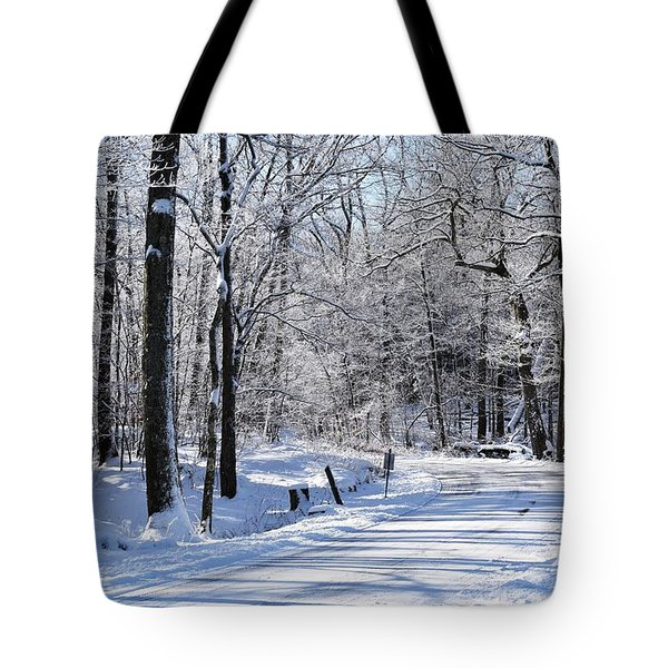 The Snowy Road 1 Tote Bag