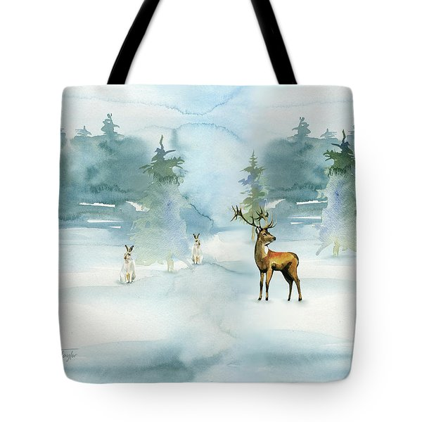 The Soft Arrival Of Winter Tote Bag by Colleen Taylor