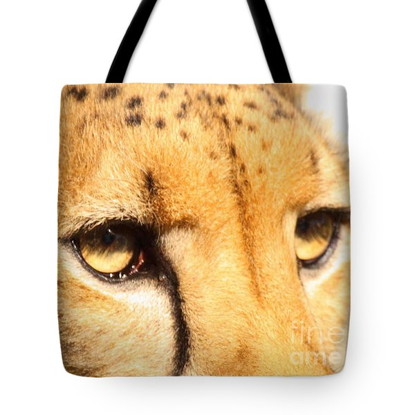 Tote Bag featuring the photograph The Soft Eyes Of A Cheetah by Max Allen
