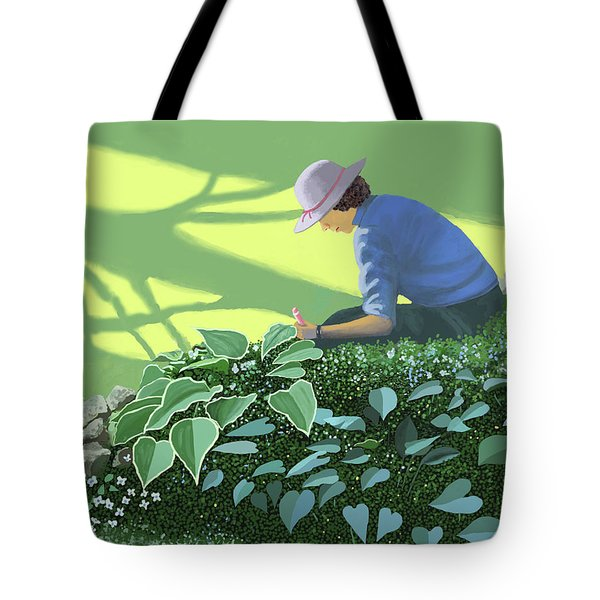 The Solace Of The Shade Garden Tote Bag
