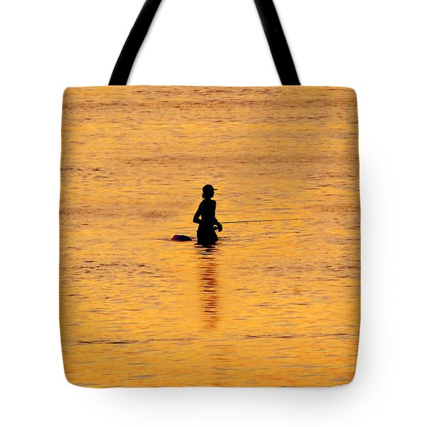 The Son Of A Fisherman Tote Bag by David Lee Thompson