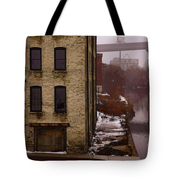 Tote Bag featuring the digital art The South Bank by David Blank