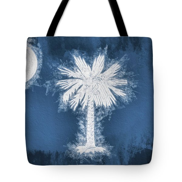 Tote Bag featuring the digital art The South Carolina Flag by JC Findley
