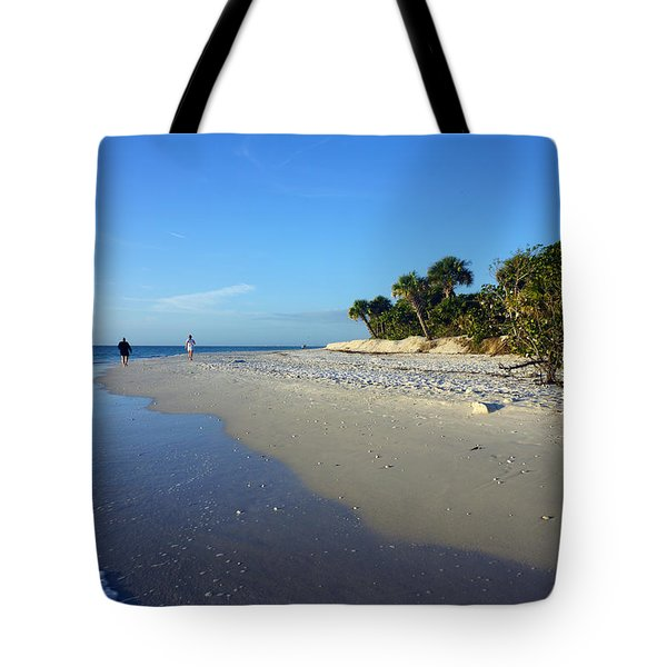 The South End Of Barefoot Beach In Naples, Fl Tote Bag