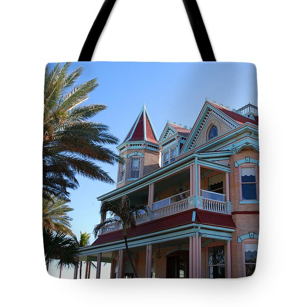 The Southernmost House In Key West Tote Bag by Susanne Van Hulst
