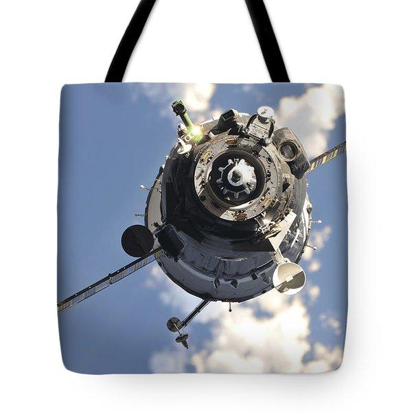 The Soyuz Tma-20 Spacecraft Tote Bag by Stocktrek Images