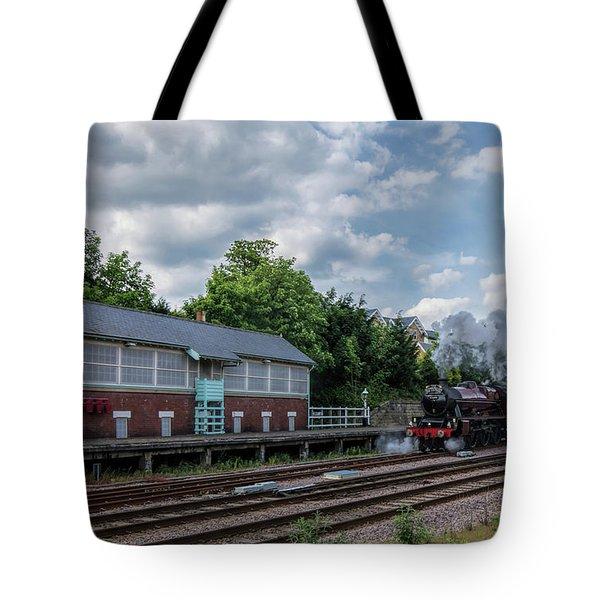 The Spa Express Departing Scarborough Tote Bag