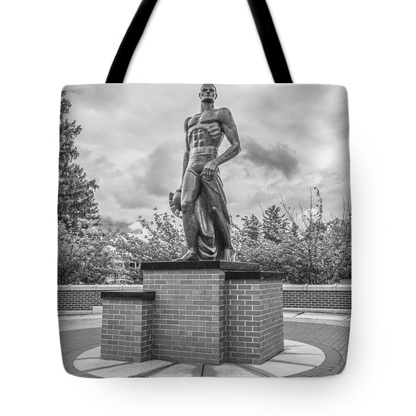 The Spartan Statue Black And White  Tote Bag