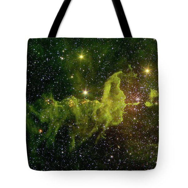 Tote Bag featuring the photograph The Spider And The Fly Nebula by NASA JPL - Caltech