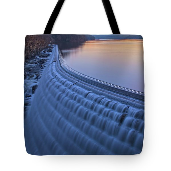 The Spillway At Dawn Tote Bag