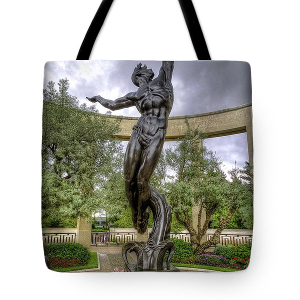 The Spirit Of American Youth Rising Tote Bag by Tim Stanley