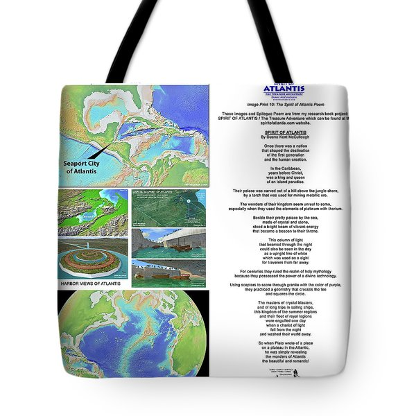 The Spirit Of Atlantis Poem Tote Bag
