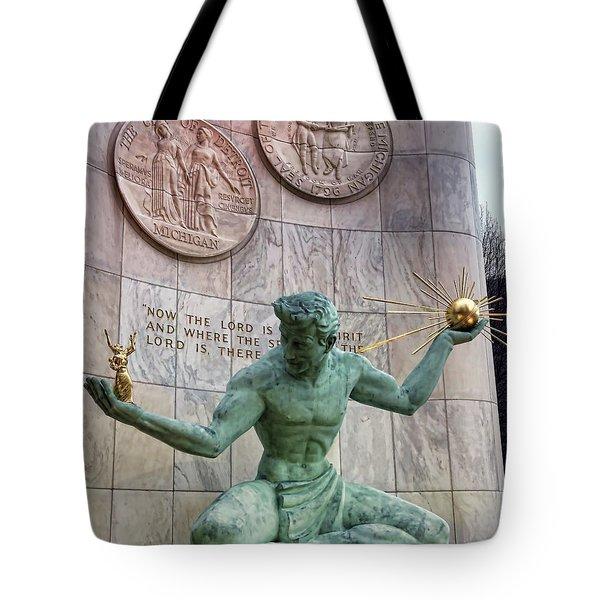 The Spirit Of Detroit Tote Bag by Gordon Dean II