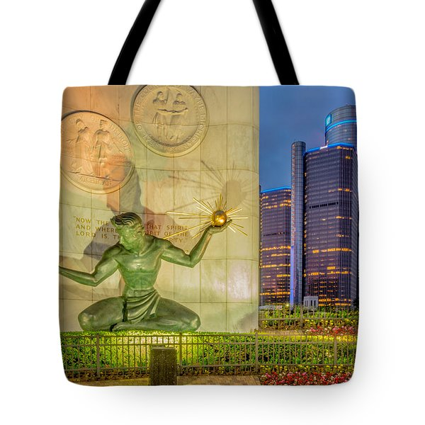 The Spirit Of Detroit  Tote Bag