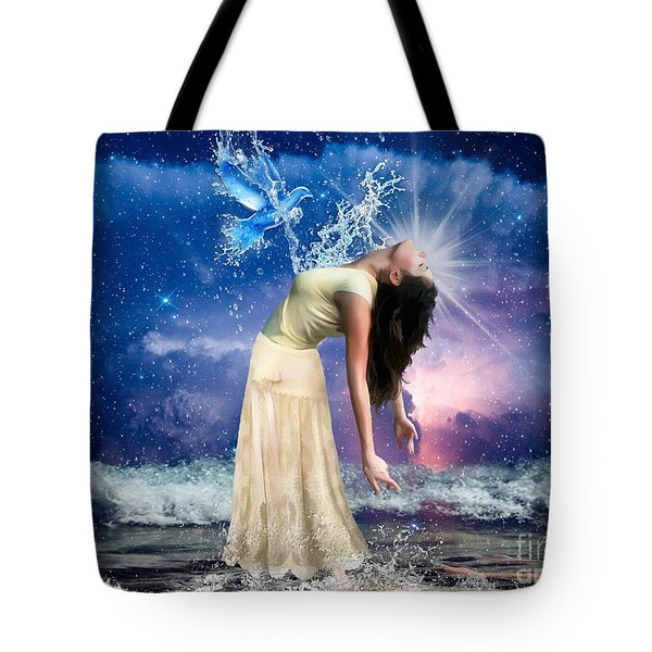 Tote Bag featuring the digital art The Spirit Of Truth by Dolores Develde
