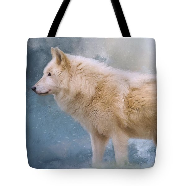 The Spirit Within - Arctic Wolf Art Tote Bag