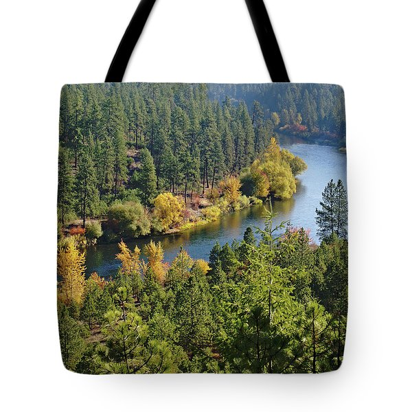 Tote Bag featuring the photograph The Spokane River  by Ben Upham III