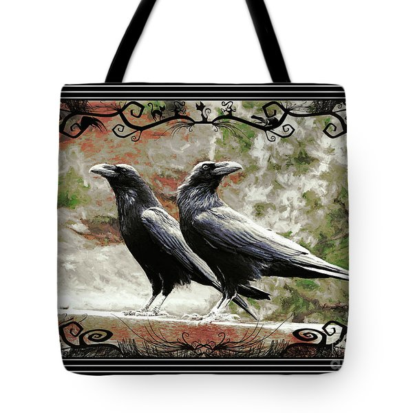 The Spooky Ravens Tote Bag