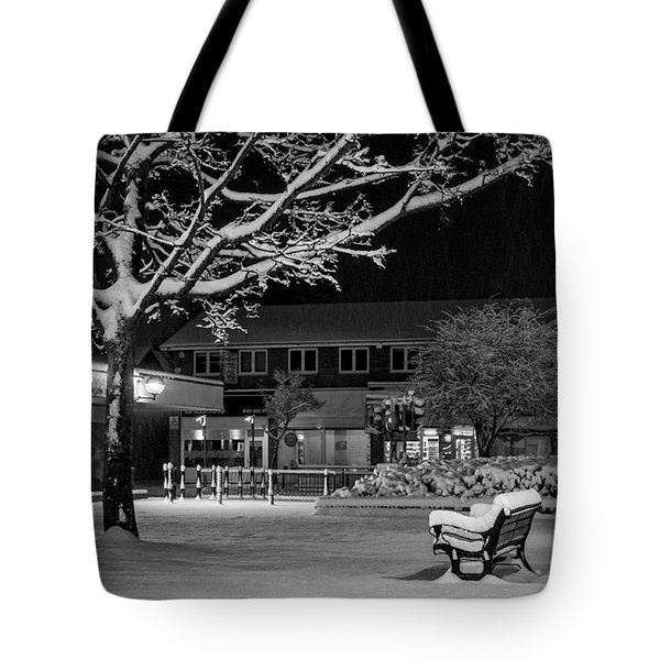 The Square In The Snow Tote Bag