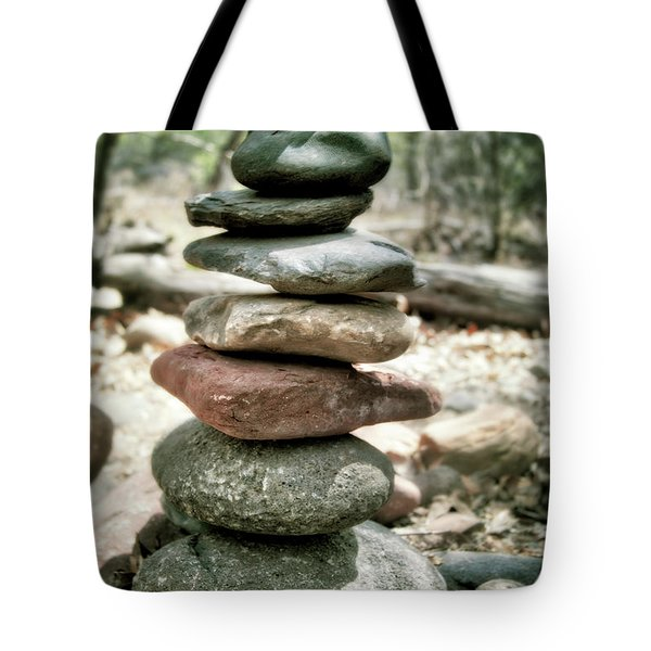 The Stack - Rock Cairn At Buddha Beach - Sedona Tote Bag