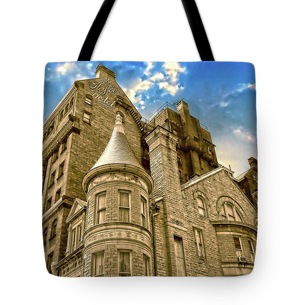 Tote Bag featuring the photograph The Stafford Hotel by Brian Wallace