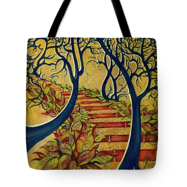 The Stairs To Now Tote Bag by Anna Ewa Miarczynska