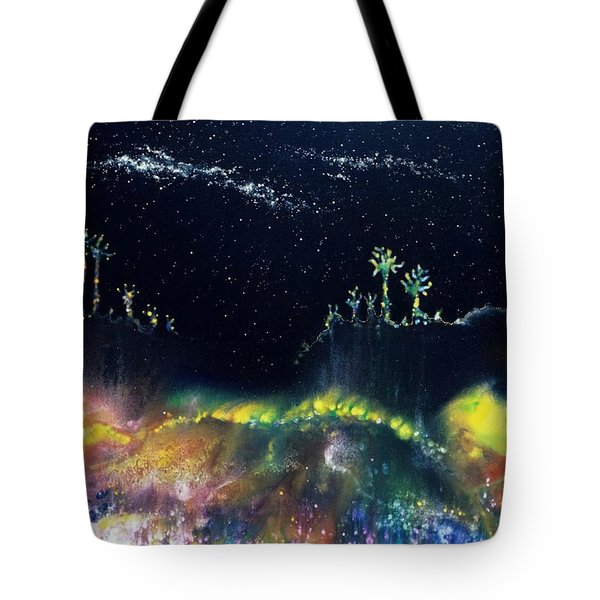 The Starfields Of Andromeda Tote Bag by Lee Pantas