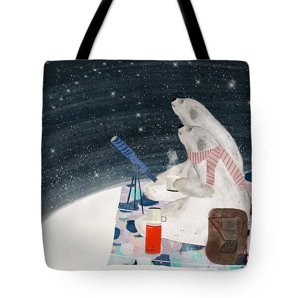 Tote Bag featuring the painting The Stargazers by Bri B