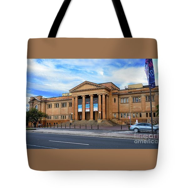 Tote Bag featuring the photograph The State Library Of New South Wales By Kaye Menner by Kaye Menner