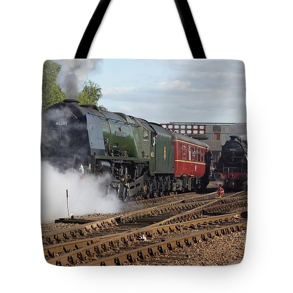 Tote Bag featuring the photograph The Steam Railway by David Birchall