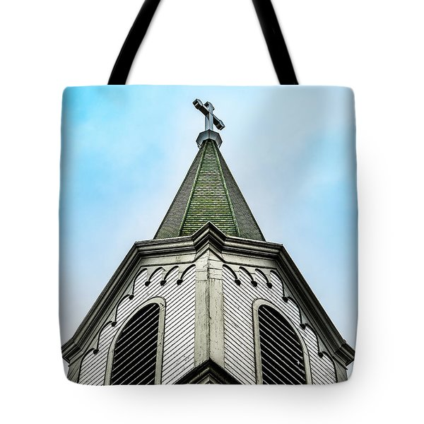 Tote Bag featuring the photograph The Steeple by Onyonet  Photo Studios