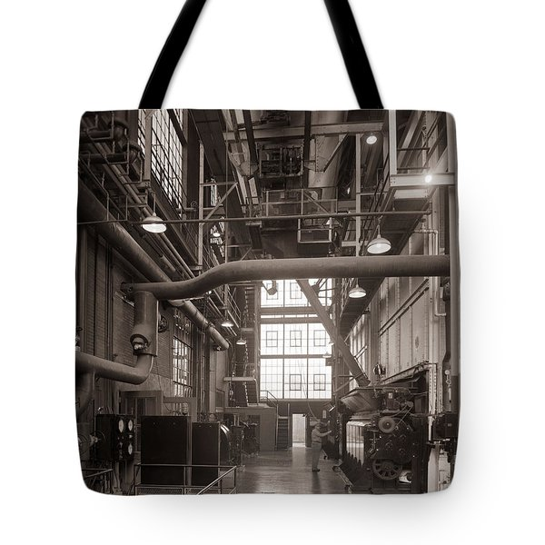 The Stegmaier Brewery Boiler Room Wilkes Barre Pennsylvania 1930's Tote Bag