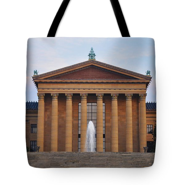 The Steps Of The Philadelphia Museum Of Art Tote Bag by Bill Cannon