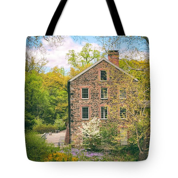 The Stone Mill In Spring Tote Bag by Jessica Jenney