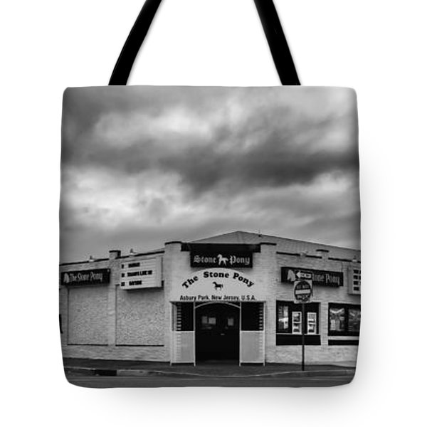 The Stone Pony Asbury Park New Jersey Black And White Tote Bag