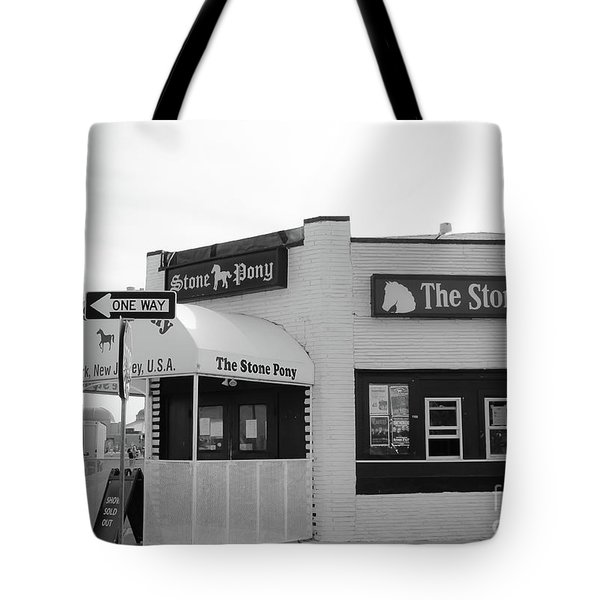 Tote Bag featuring the photograph The Stone Pony - One Way by Colleen Kammerer