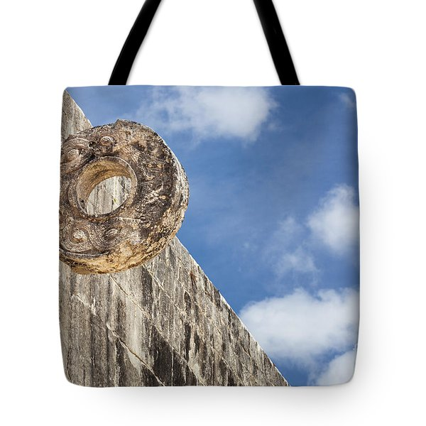 The Stone Ring At The Great Mayan Ball Court Of Chichen Itza Tote Bag