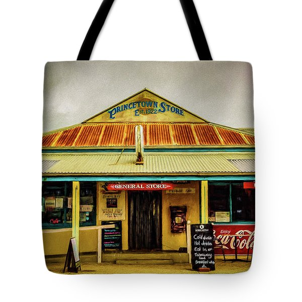 Tote Bag featuring the photograph The Store by Perry Webster
