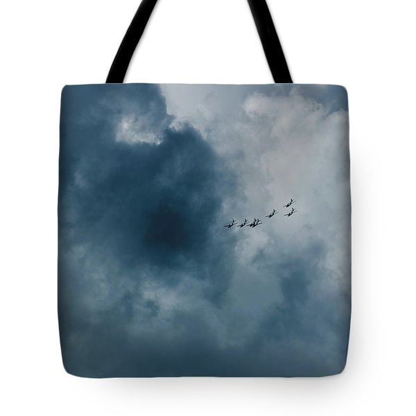 The Storm And Aircrafts Tote Bag