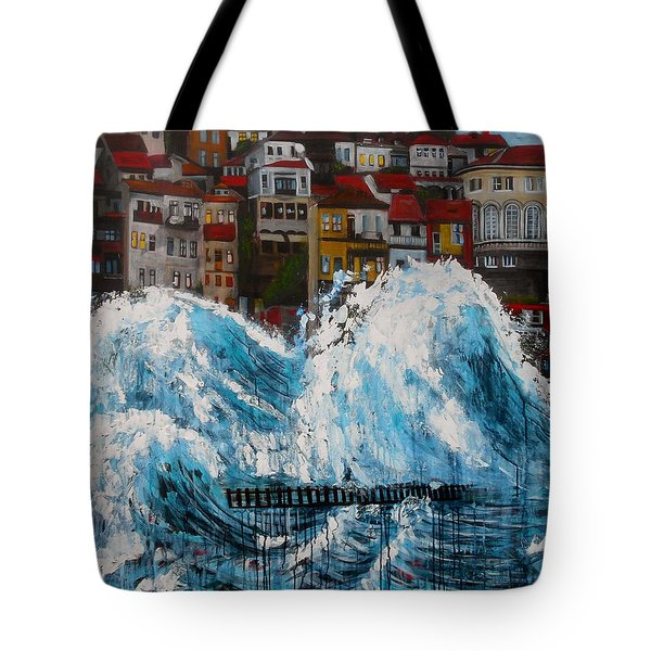 The Storm- Large Work Tote Bag